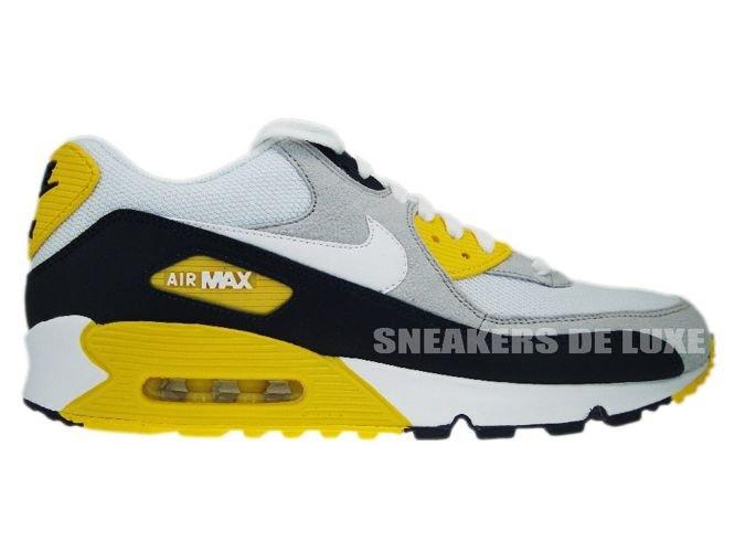 the best attitude 28fd3 15690 Nike Air Max 90 White White-Obsidian-Neutral Grey ...