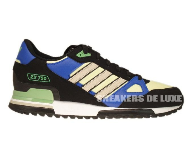623af38f6832a Q23662 Adidas ZX 750 Originals Black Bliss-Haze Yellow Q23662 adidas ...