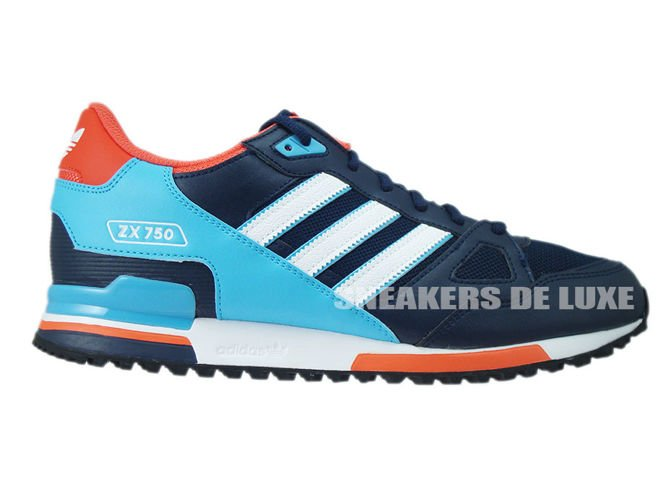 cheap for discount 21e33 28f38 S79194 adidas ZX 750 Collegiate Navy  Footwear White   Bright Cyan ...