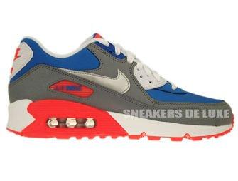307793-407 Nike Air Max 90 Military Blue-Metallic Silver-White-Laser Rose