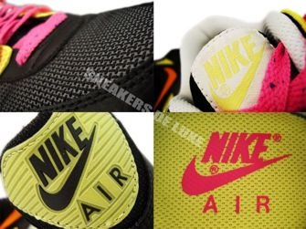 309298-002 Nike Air Max 90 Black/Citcuit Orange-Lemon Frost