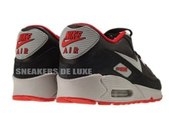 333888-005 Nike Air Max 90 Premium Black/Matte Silver-Sport Red