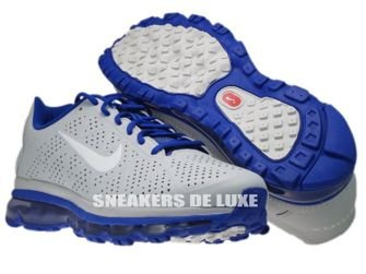 456325-040 Nike Air Max 2011+ Leather Pure Platinum/Old Royal/White