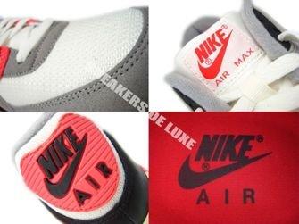 543361-161 Nike Air Max 90 OG Sail/Cool Grey-Medium Grey-Infrared