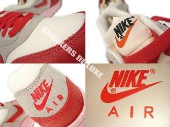 555284-103 Nike Air Max 1 Vintage Sail/Hyper Red-Street Grey-Iced Carmine