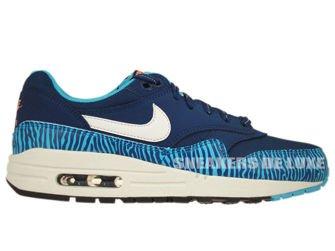 555766-402 Nike Air Max 1 Brave Blue/Summit White-Black-Summit White
