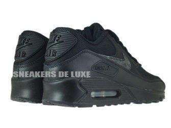 724824-001 Nike Air Max 90 Black / Black - Cool Grey