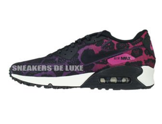 749326-500 Nike Air Max 90 Jacquard Mulberry/Black-Sport Fuchsia-Summit White