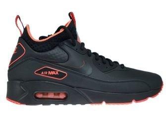 AA4423-001 Nike Air Max 90 Mid Winter Black/Black-Total Crimson