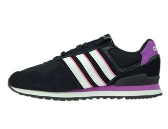 AW4932 adidas neo 10K W Core Black/ White/Shock Purple