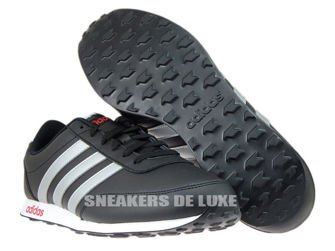 AW5055 adidas neo V Racer Core Black/Metallic Silver/Power Red