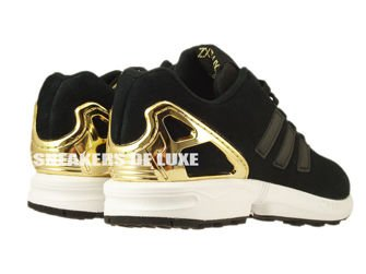 huge selection of 73216 d04d6 B35319 adidas ZX Flux Core Black / Core Black / Gold Met ...