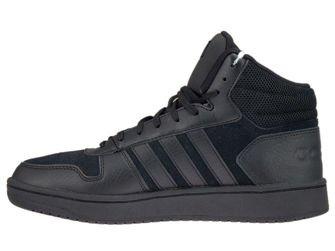 B44649 adidas Hoops 2.0 Mid Core Black