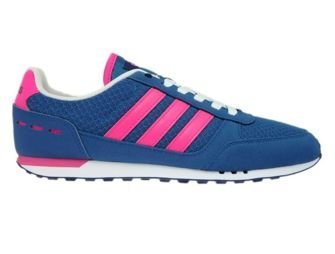 B74492 adidas City Racer W Core Blue/Shock Pink/Mystery Blue