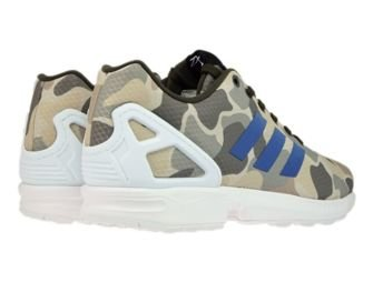BB2174 adidas ZX Flux Camo Umber / Blue / White