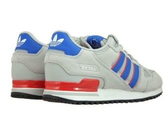 BY9271 adidas ZX 750 Grey Two/Blue/Core Red