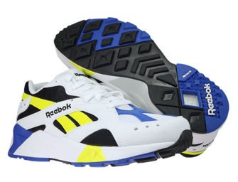 CN7840 Reebok Aztrek White / Black / Cobalt / Yellow