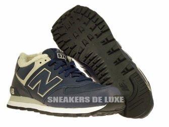 ML574NV New Balance 574 Navy Leather