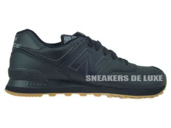 NB574BAB New Balance Leather Black/Gum