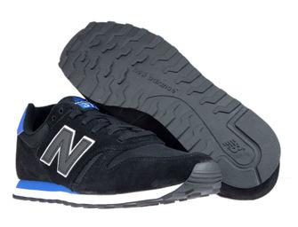 New Balance ML373MST Black with Vivid Cobalt