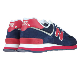 New Balance ML574MUA Pigment with Team Red