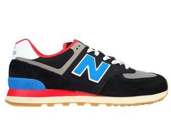 New Balance ML574SOV Black with Neo Classic Blue & Nebula