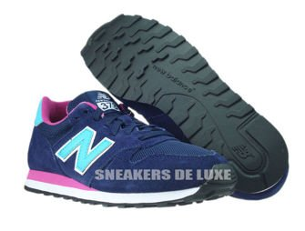 New Balance WL373NTP Navy / Turquoise / Pink
