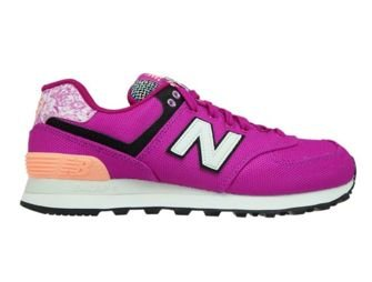 New Balance WL574ASD Poisonberry with Bleached Sunrise