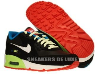 Nike Air Max 90 Black/White-Blue Lacquer Red 307793-026