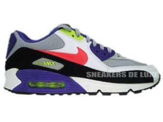 Nike Air Max 90 Black/White-Flint Grey-Hot Red 345188-001