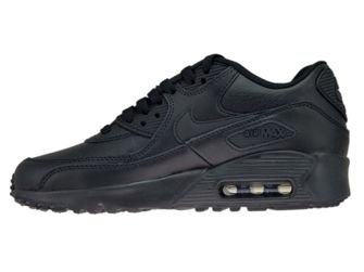Nike Air Max 90 GS 833412-001 Leather Black/Black