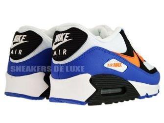 Nike Air Max 90 White/Bright Mandarin-Black