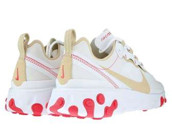 Nike React Element 55 BQ2728-101 White/Desert Ore-White