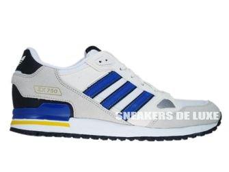Q23656 Adidas ZX 750 Originals White/Bliss-Blue-True Blue