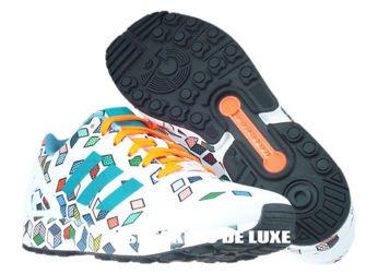 S79096 adidas ZX Flux ftwr white / ftwr white / solar orange