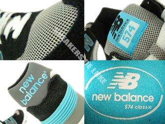 WL574SNB New Balance 574 Black / Light Blue / Grey